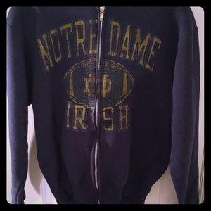 Notre Dame Zip Up Sweatshirt